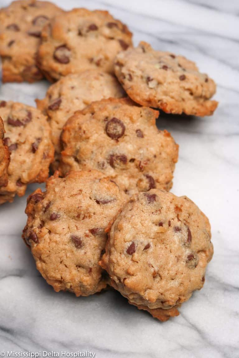 Chocolate Chip Coconut Pecan Drop Cookies