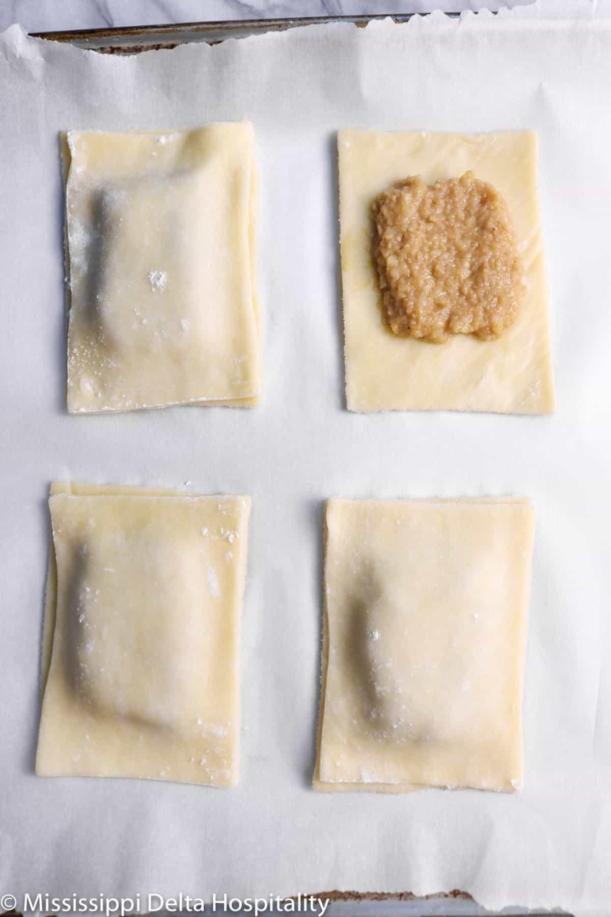 pop tarts being assembled
