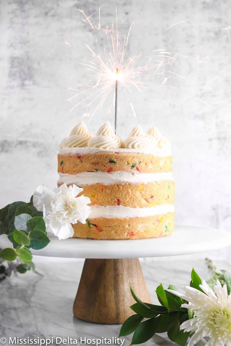 The Best Funfetti Cake (Blog Anniversary Post!)