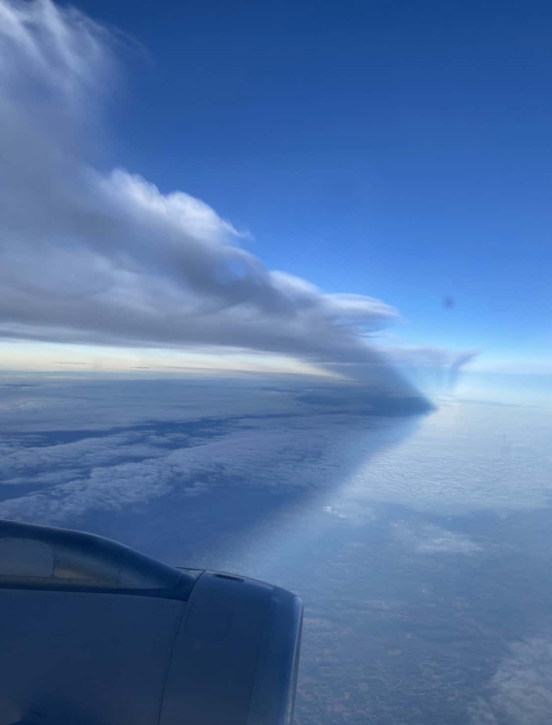 pictures of clouds from an airplane