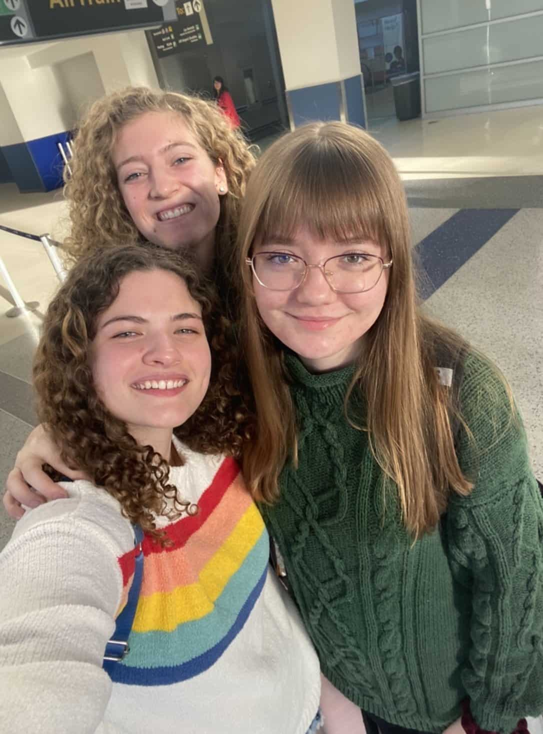 three girls taking a selfie