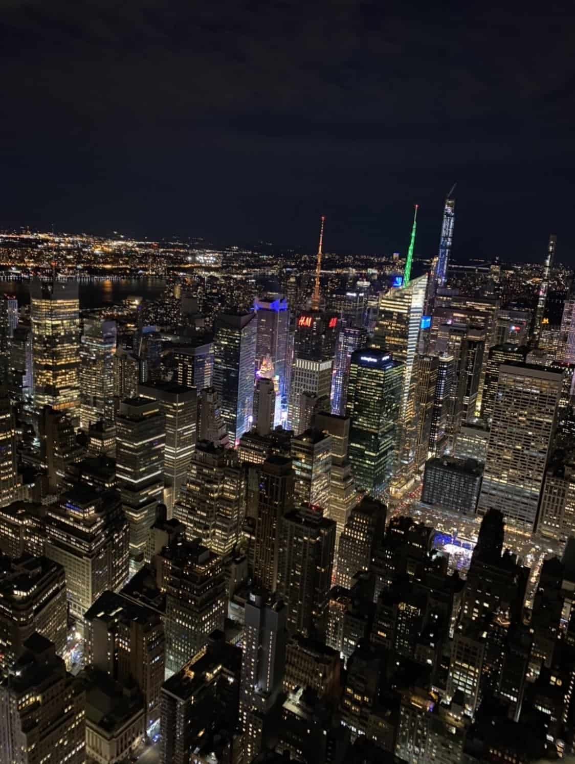 a picture of times square from the top of the empire state building