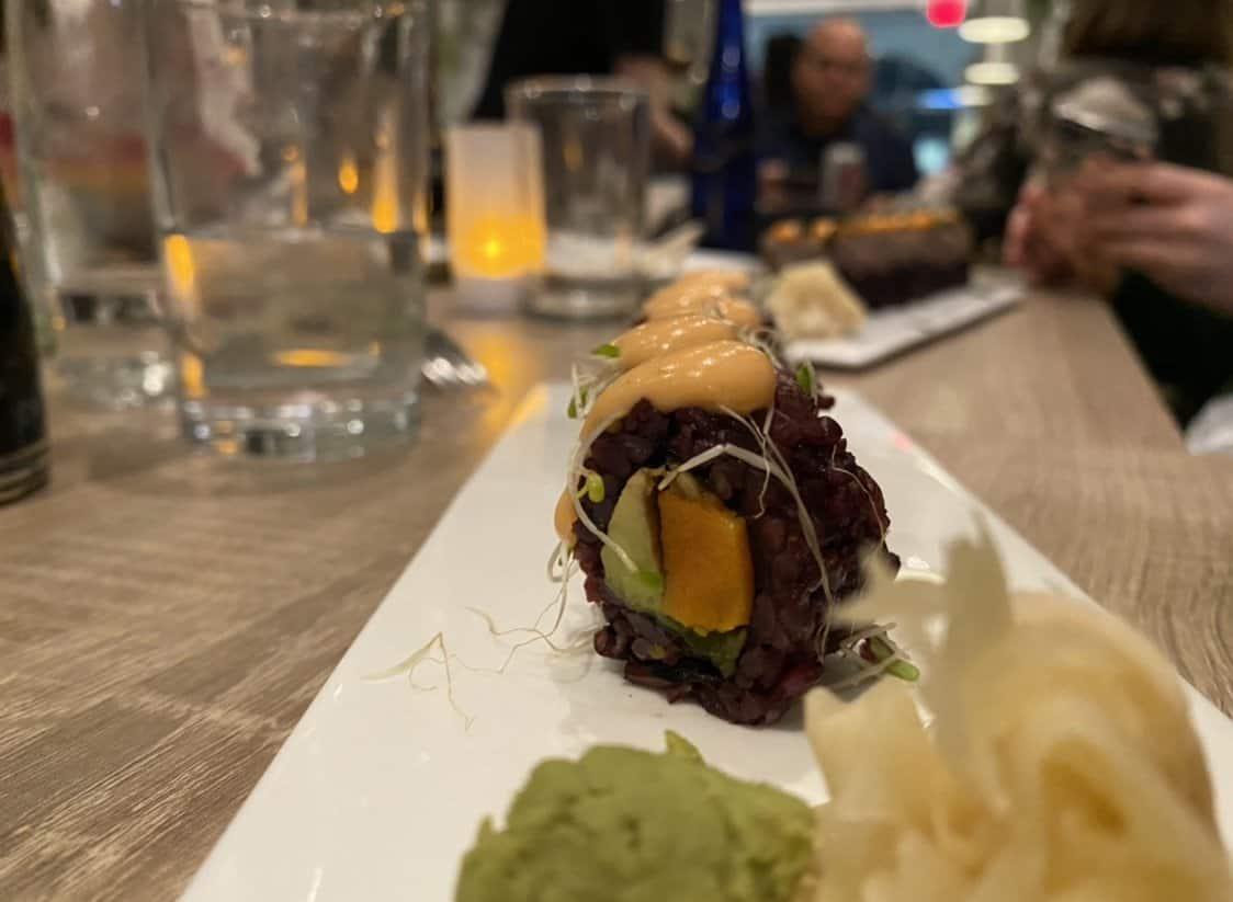 butternut squash vegan sushi