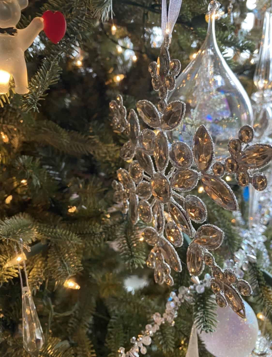 an ornament shaped like a snowflake