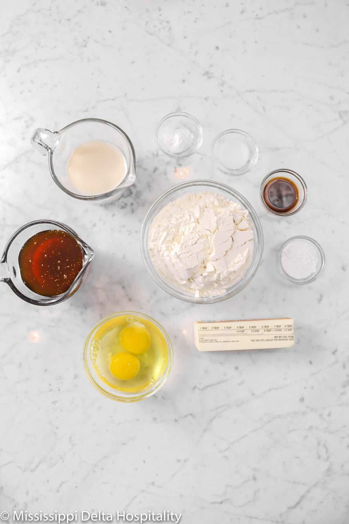 ingredients for honey cake