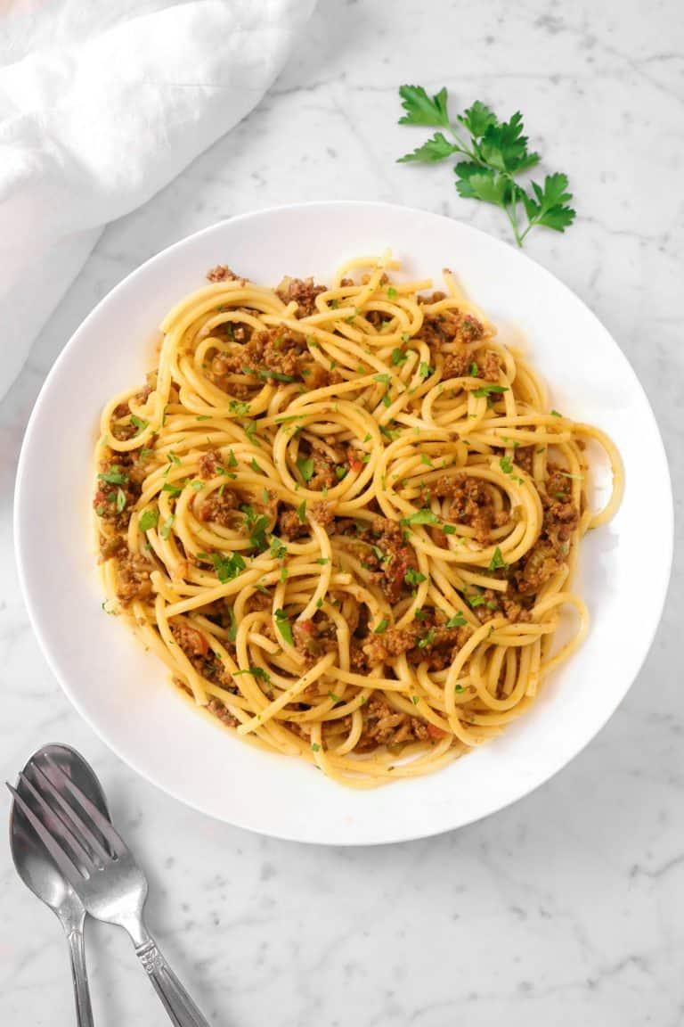 Homemade Spaghetti and Meat Sauce