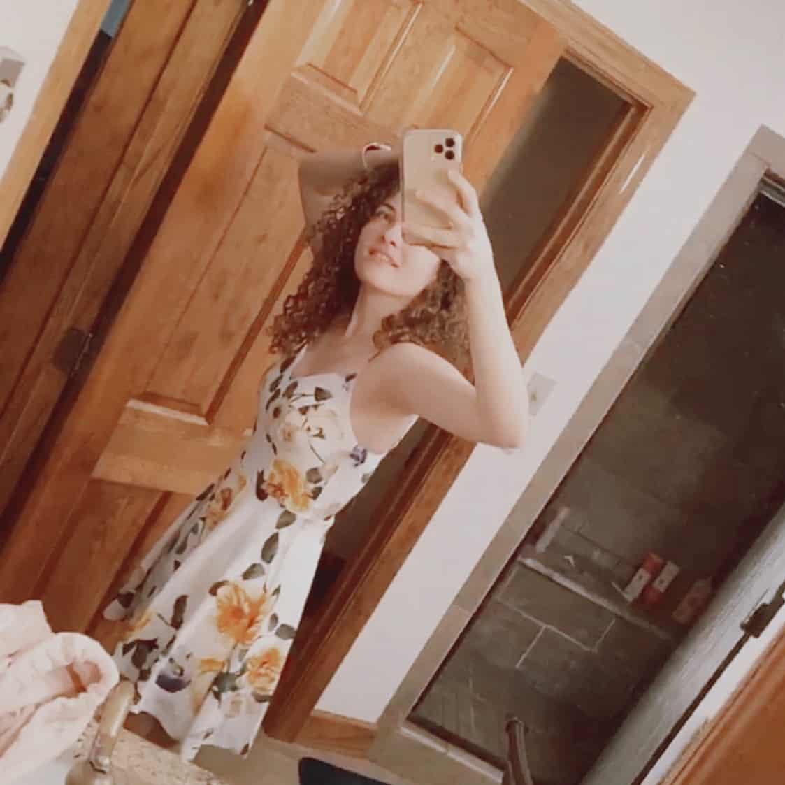 girl in a sundress