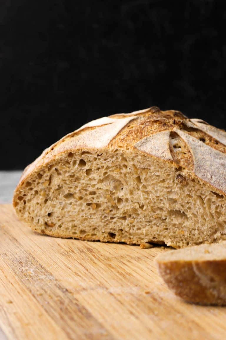 Sourdough Whole Wheat Bread With Sunflower Seeds