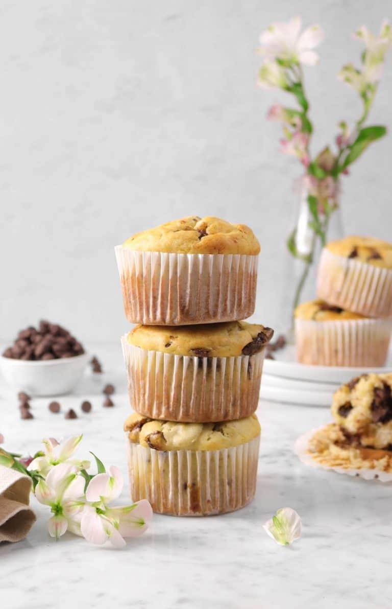 Jumbo Chocolate Chunk Banana Muffins