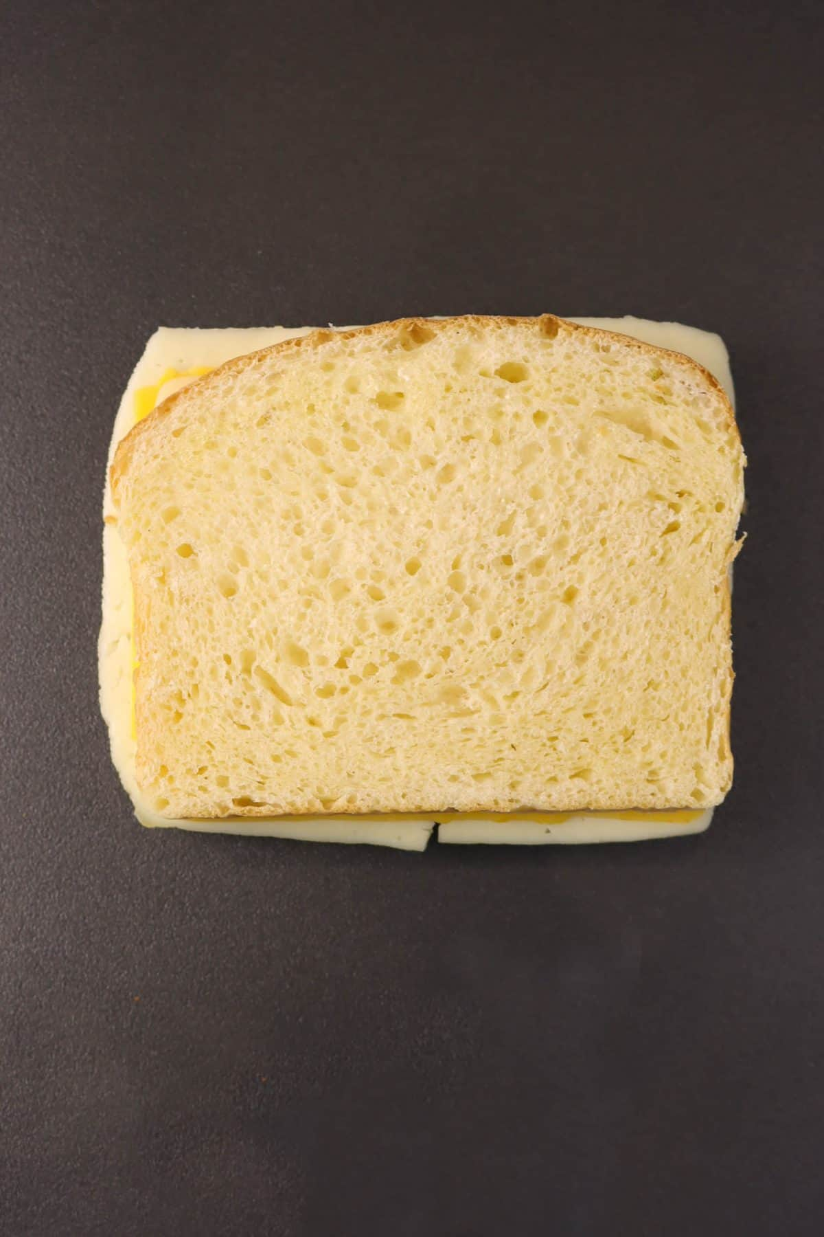 cheese sandwich on a griddle