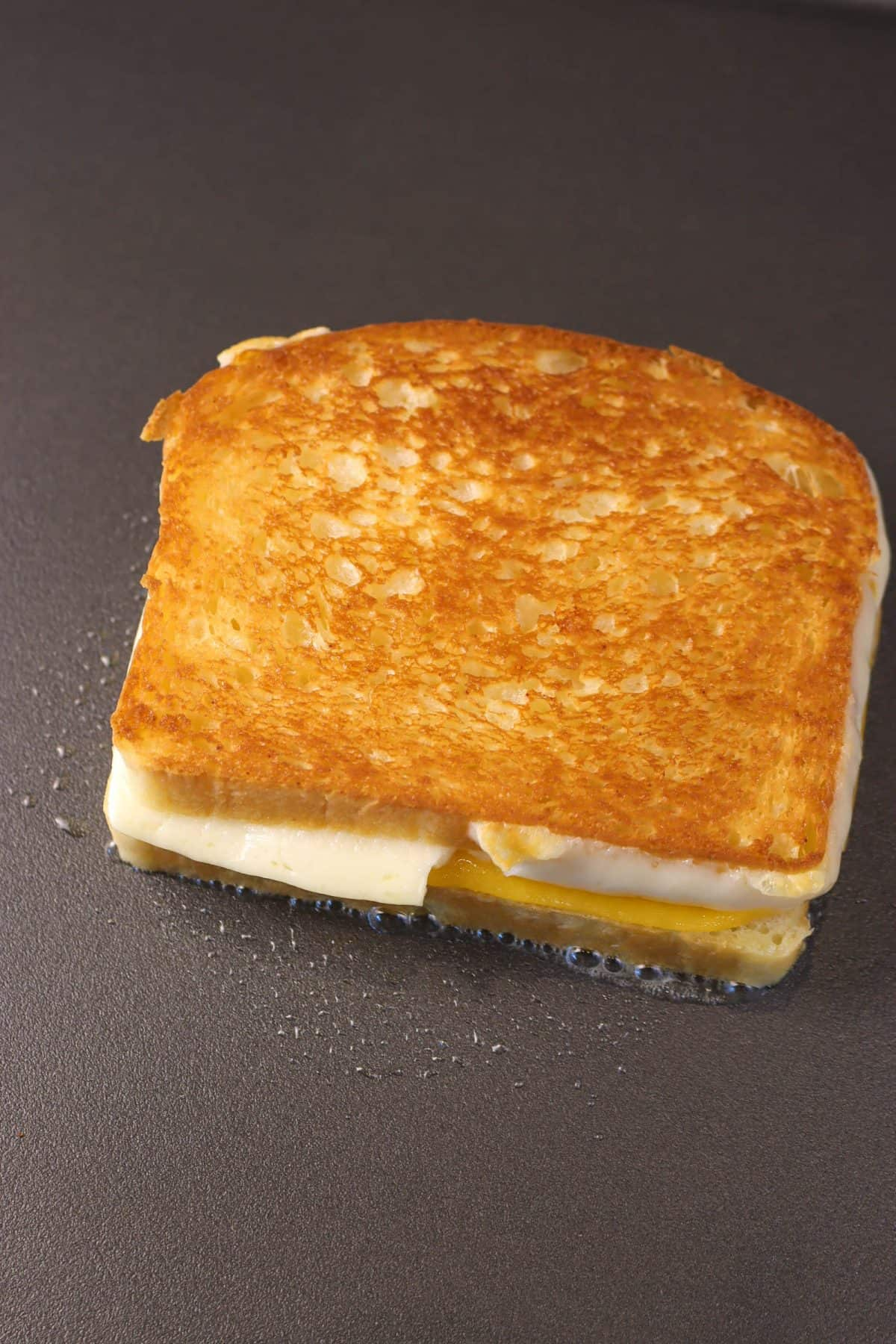 grilled cheese on a griddle