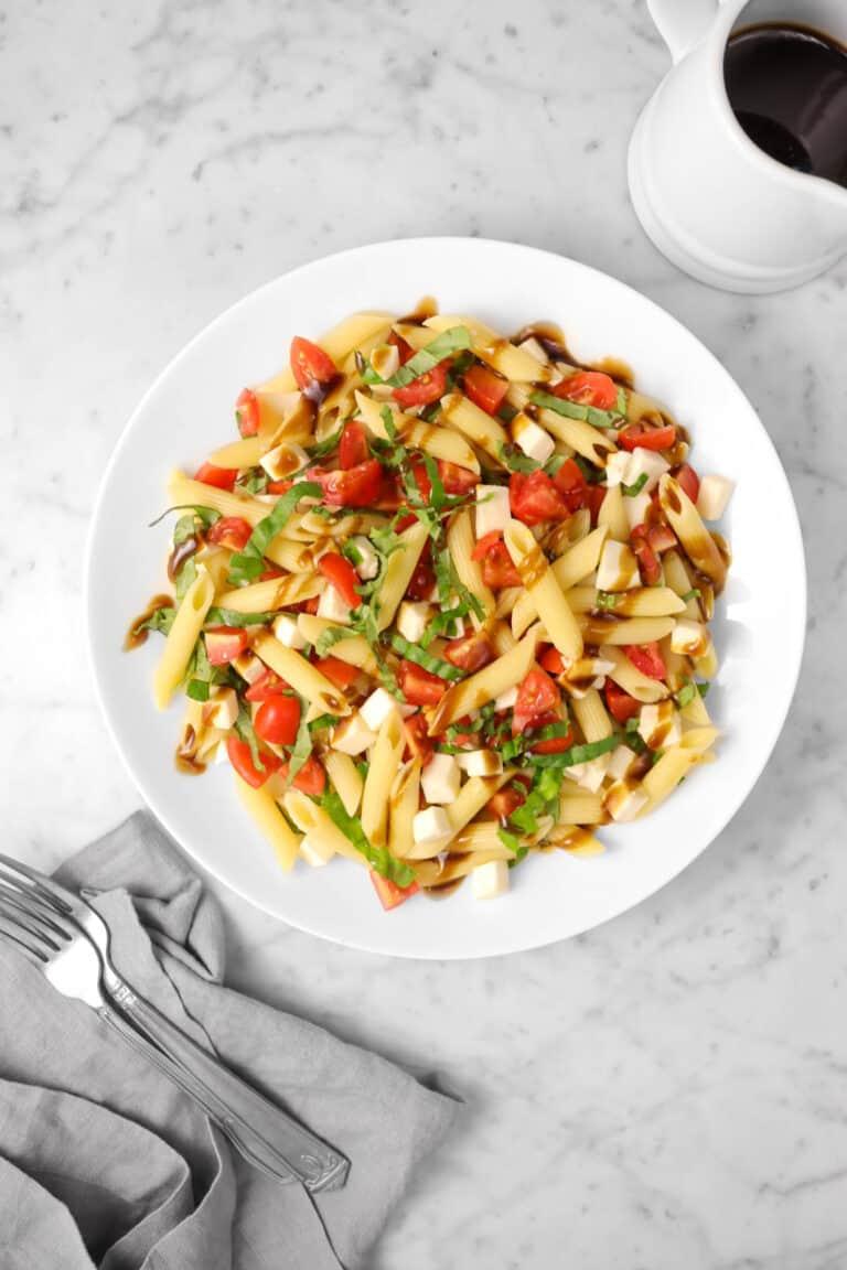 Caprese Pasta Salad with Balsamic Vinaigrette