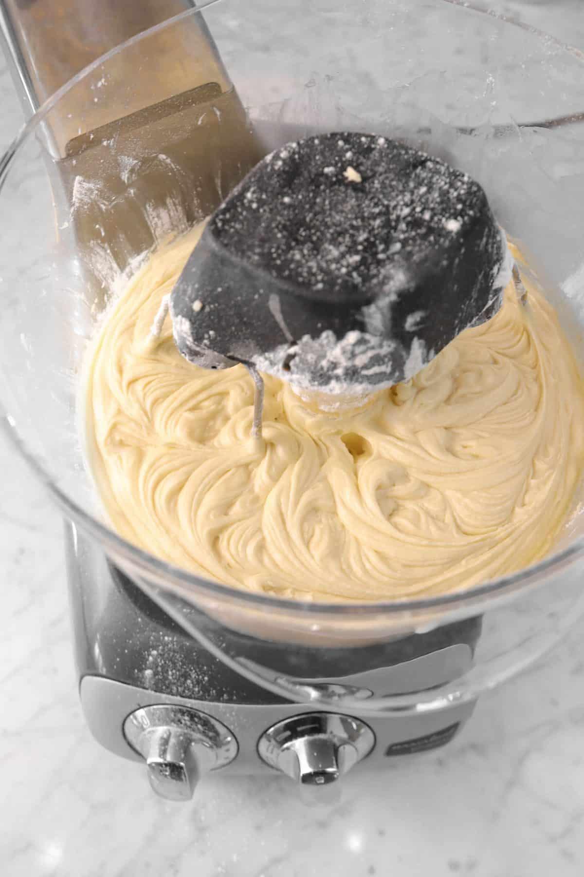 vanilla stirred into cake batter