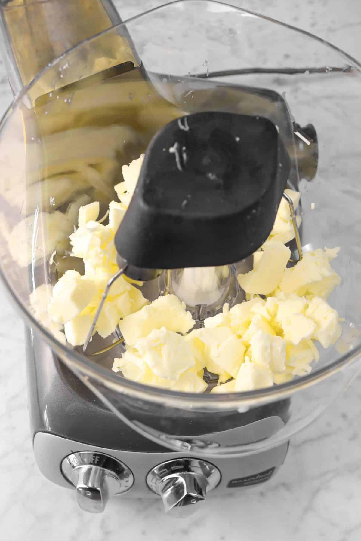 butter in a mixer
