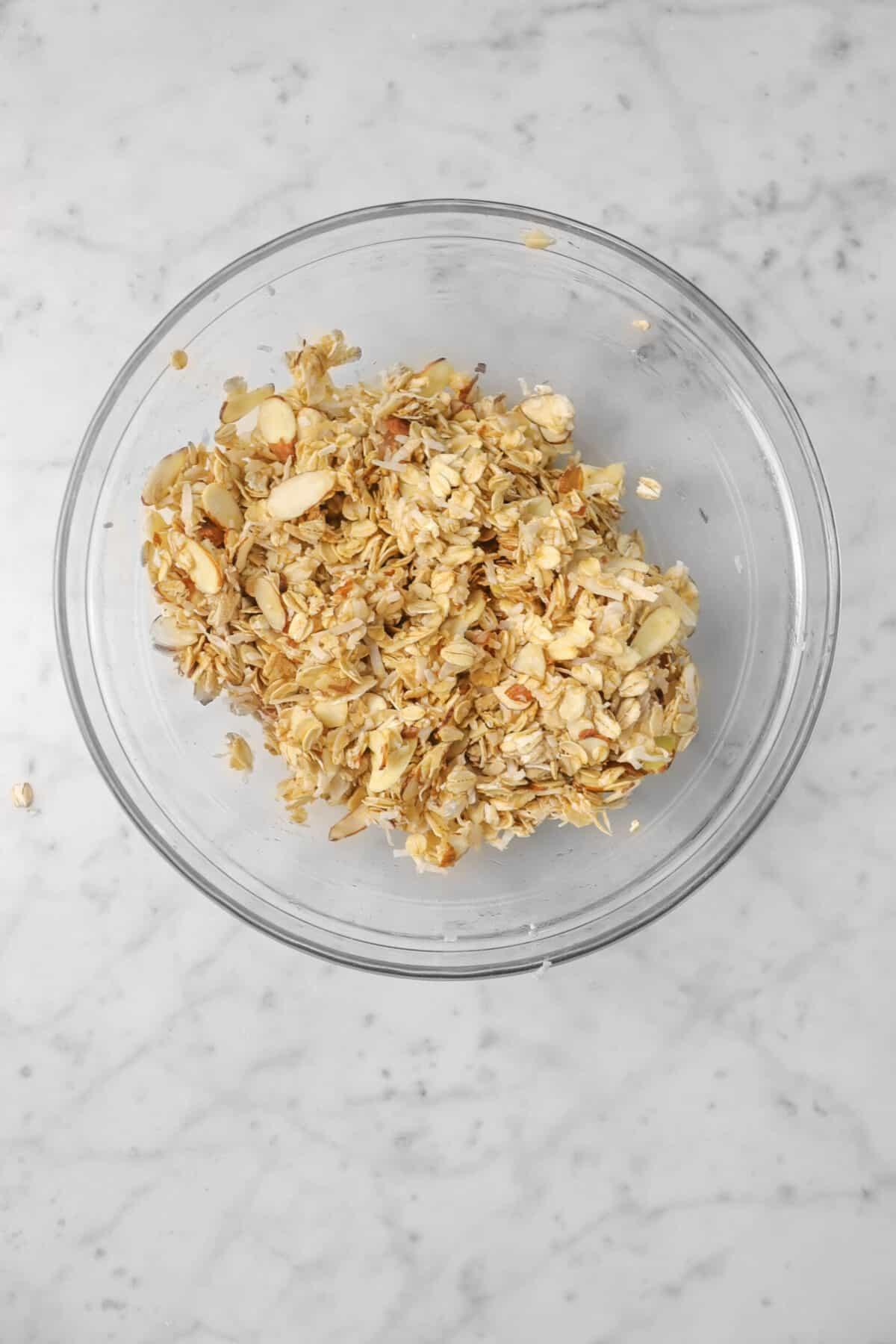 honey mixed into oatmeal mixture