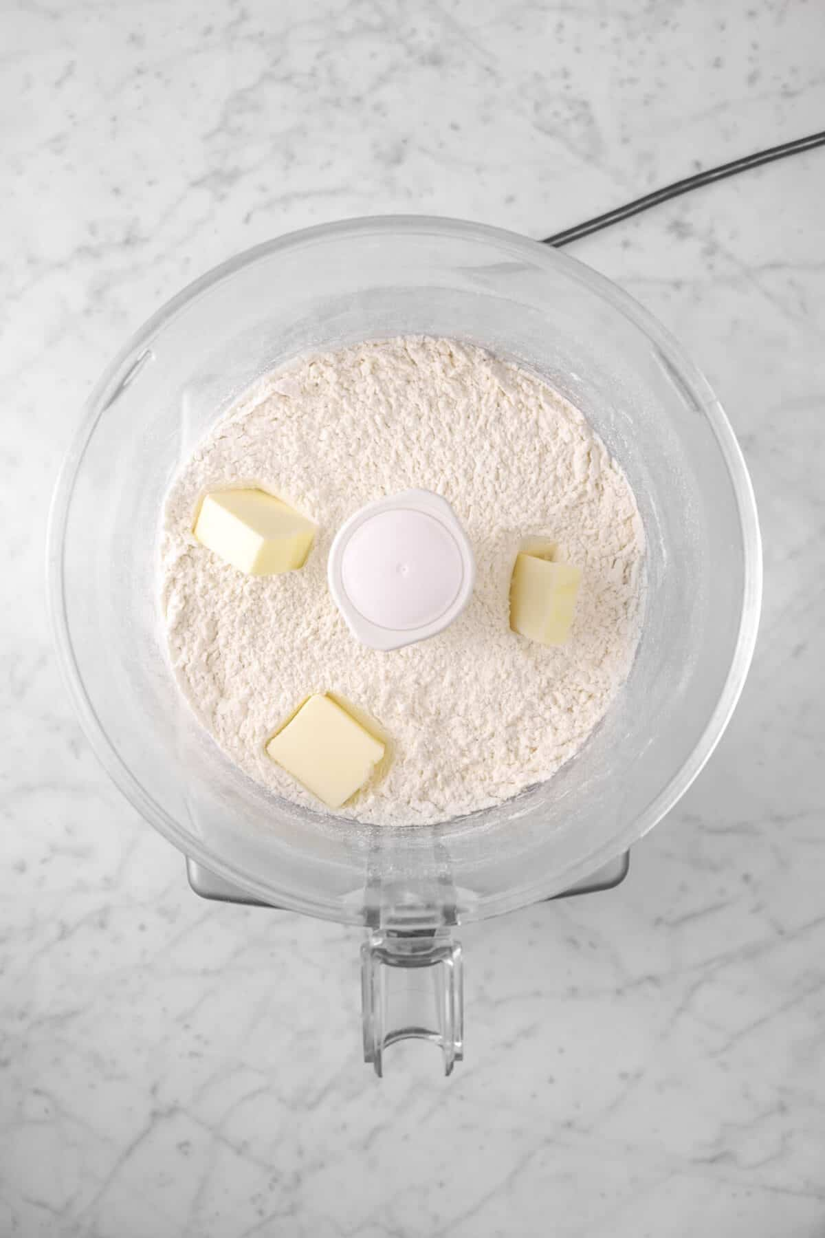 butter added to dry ingredients
