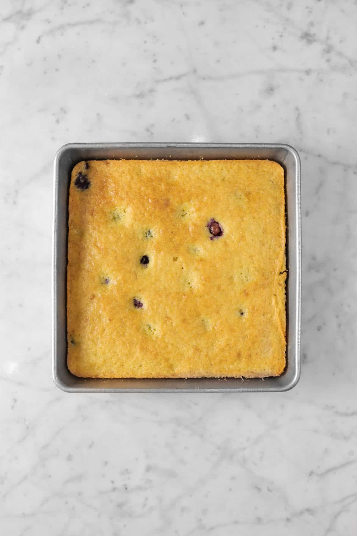 snack cake baked in a square pan
