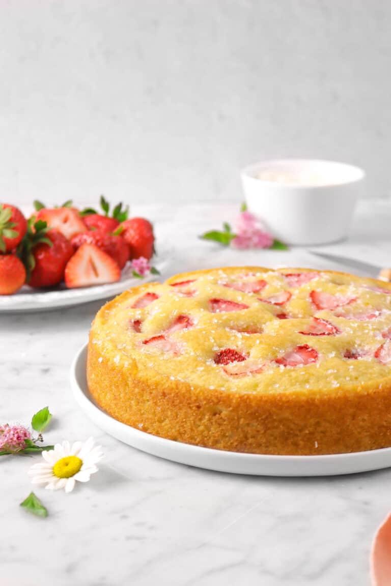 Strawberry Buttermilk Snack Cake