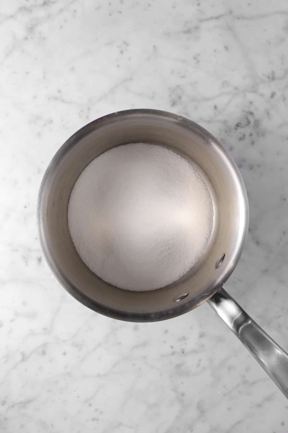 sugar and salt in a small pot