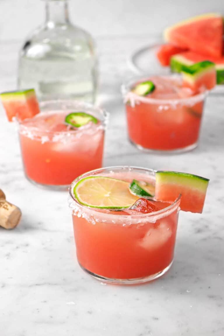 Watermelon Lime Jalapeno Margarita