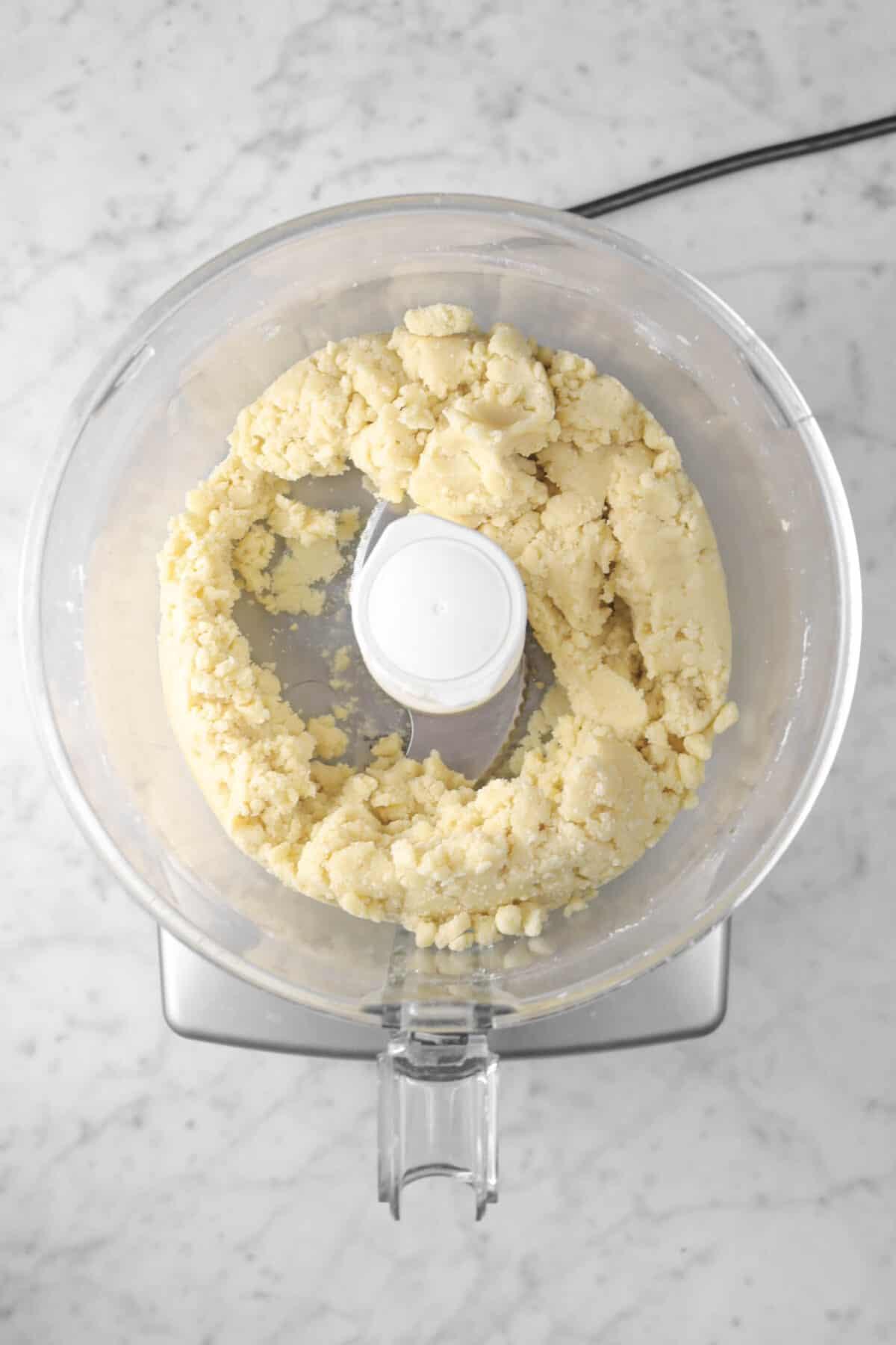 pie dough in a food processor
