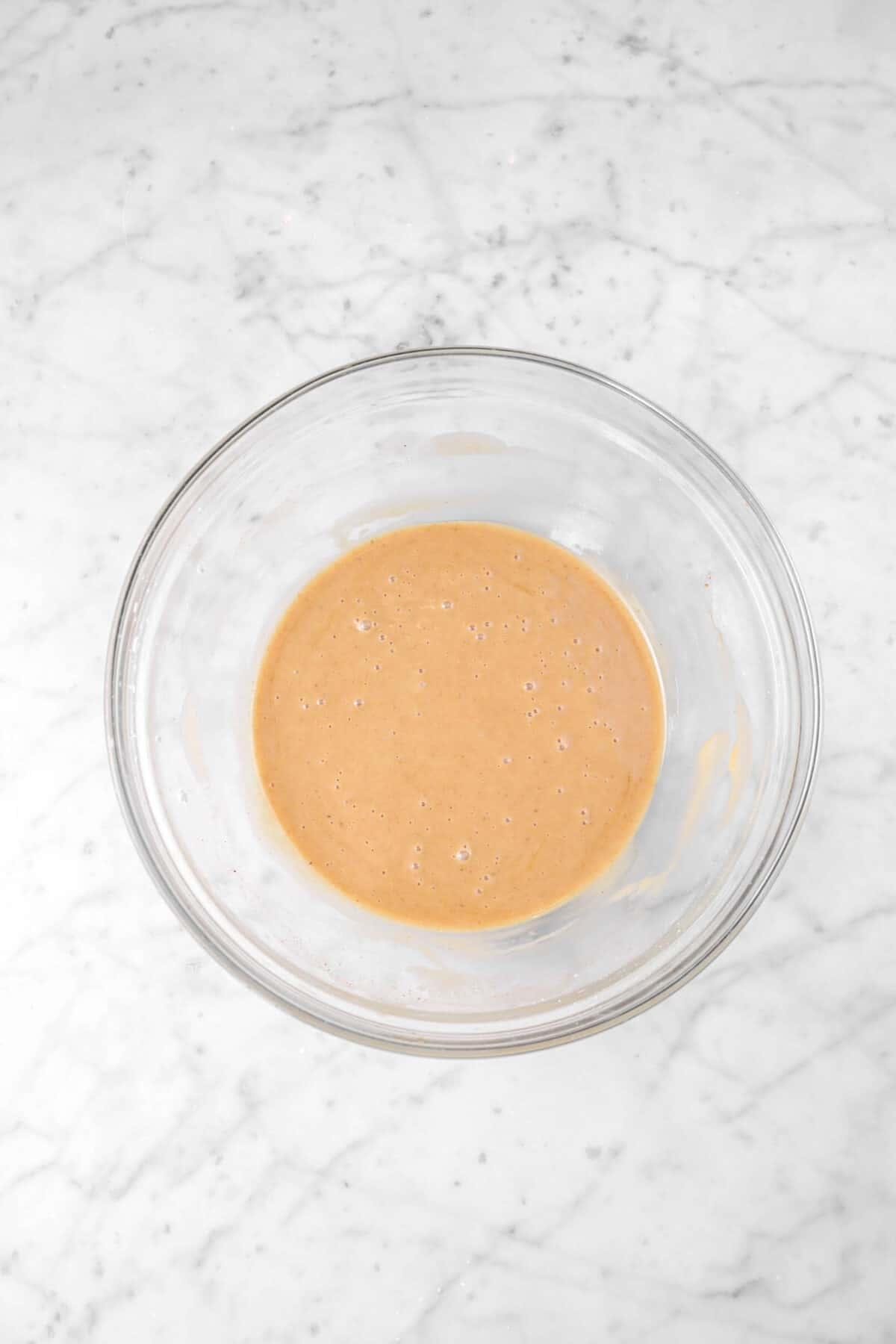 apple spice glaze in a glass bowl