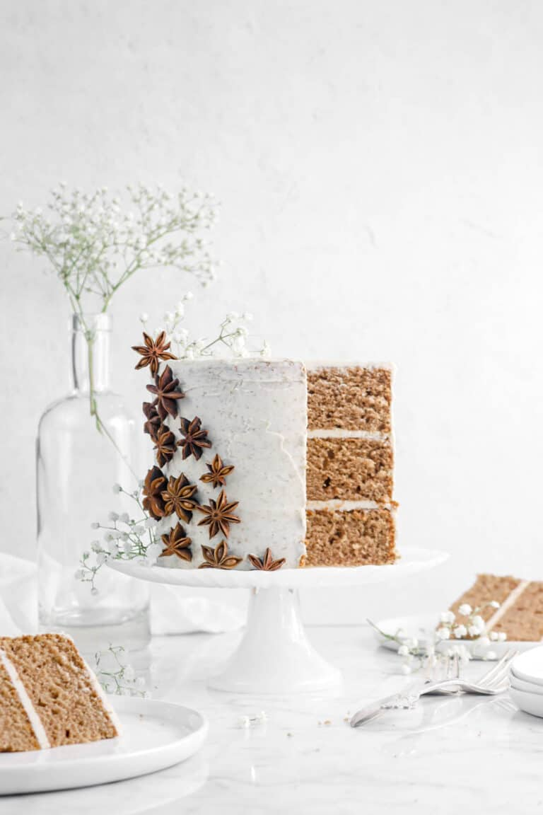 Pumpkin Spice Cake with Chai Buttercream Frosting