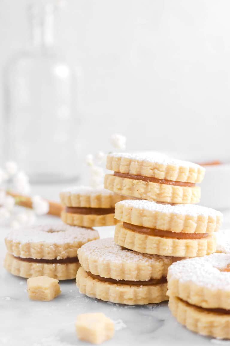 Spiced Apple Butter Linzer Cookies