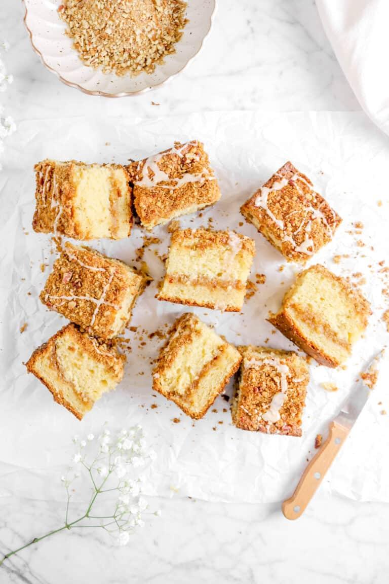 Apple Pie Coffee Cake with Cinnamon Pecan Streusel