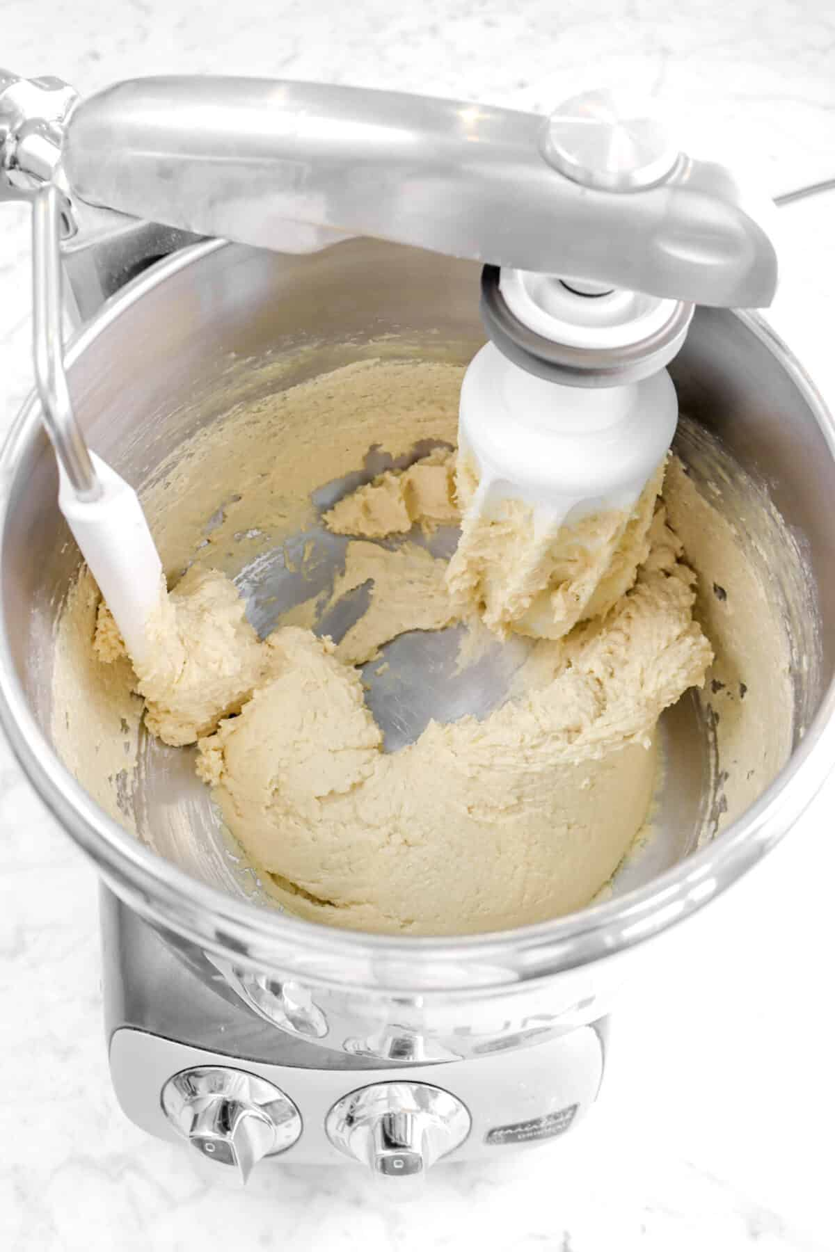 vanilla mixed into butter mixture