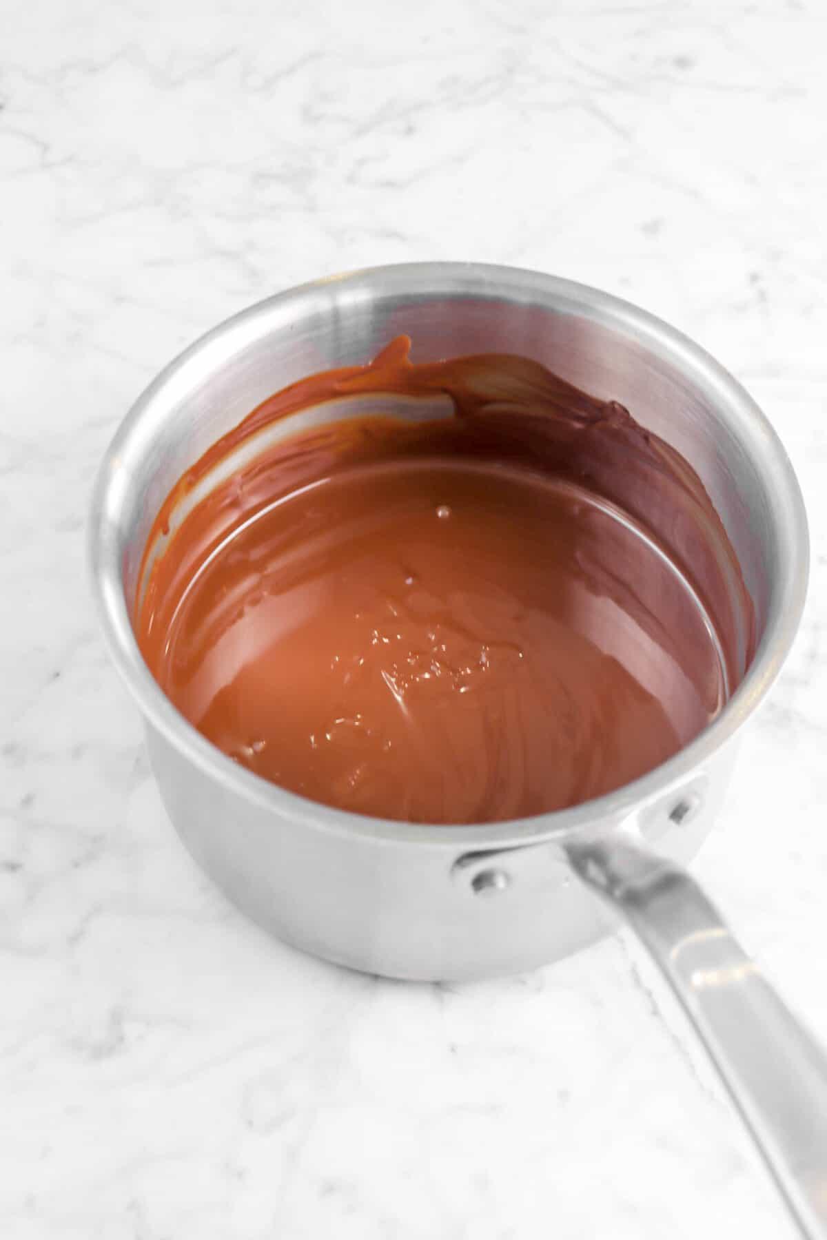 ganache in a small pot