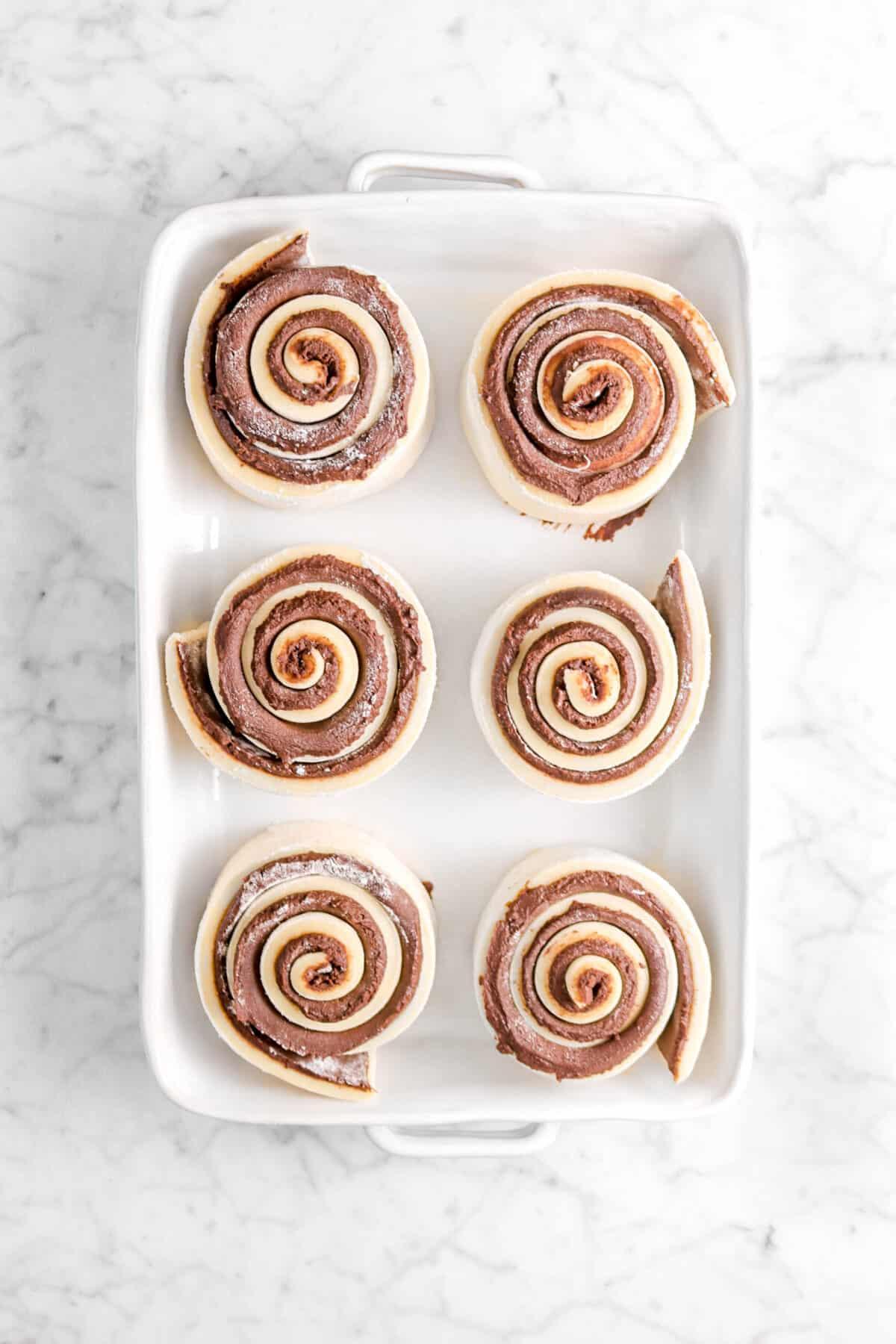 six rolls in casserole