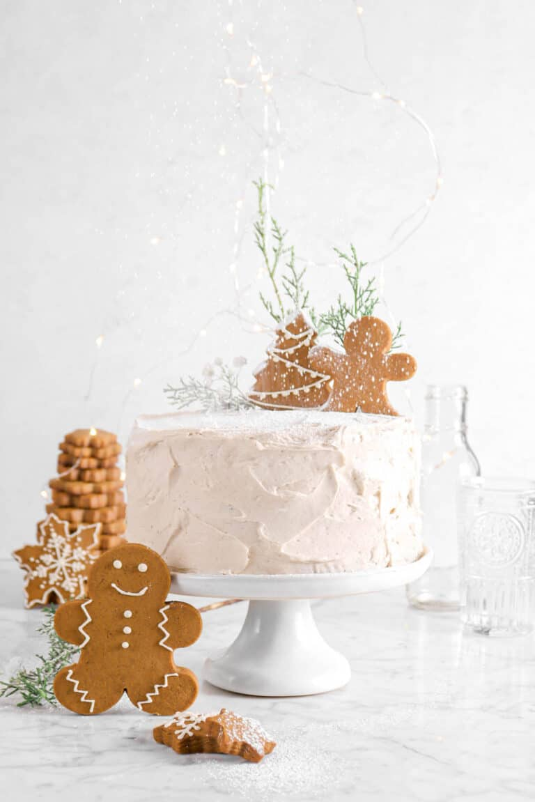 Gingerbread Layer Cake with Spiced Buttercream Frosting