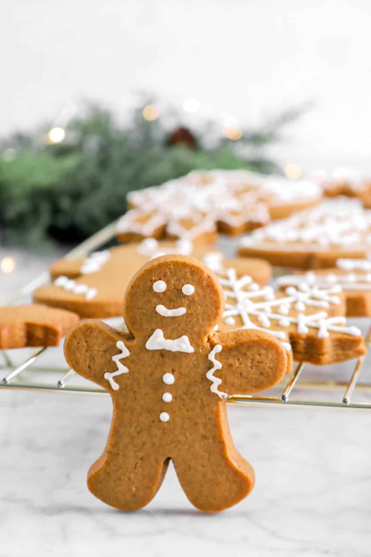 gingerbread man cookie standing up