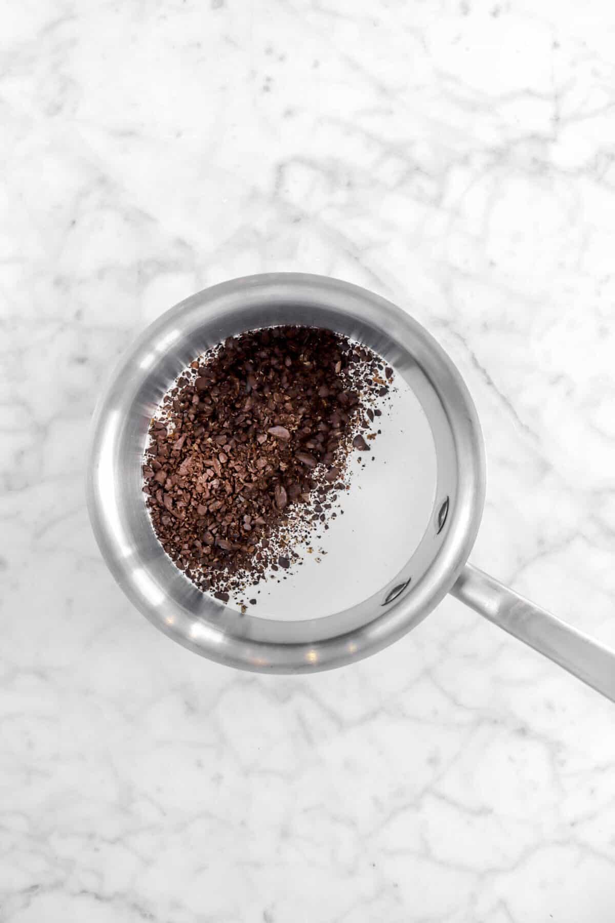 coffee and cream in a small pot