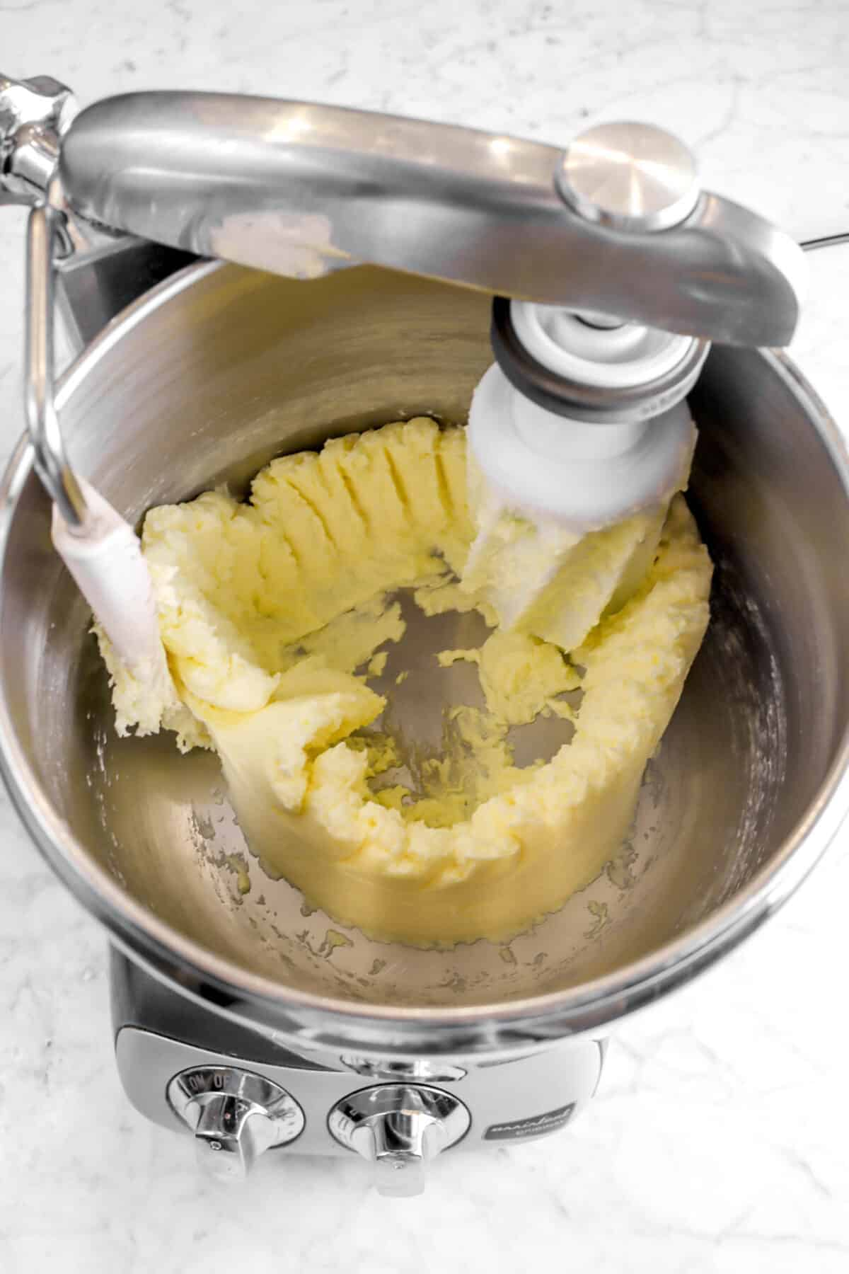 lemon stirred into butter mixture