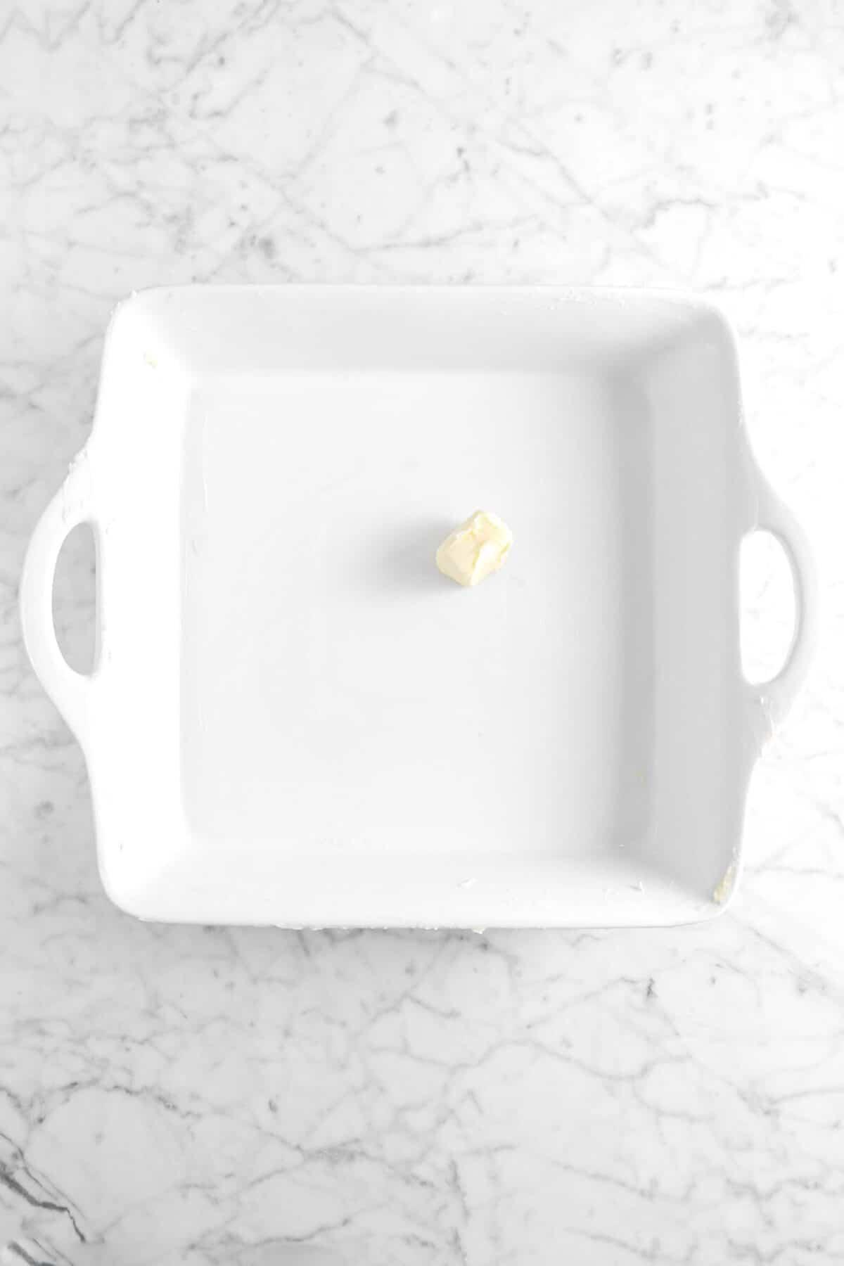 butter in white casserole