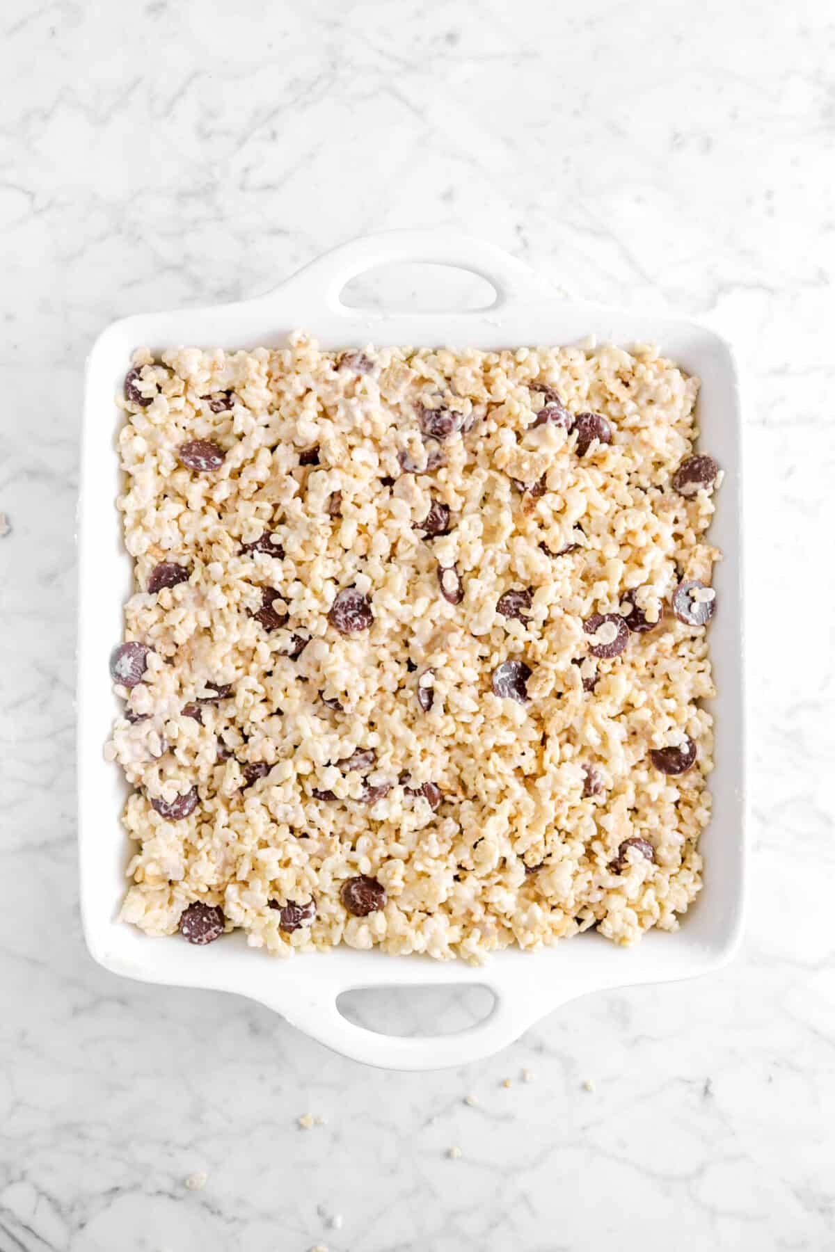 s'mores rice krispies in casserole
