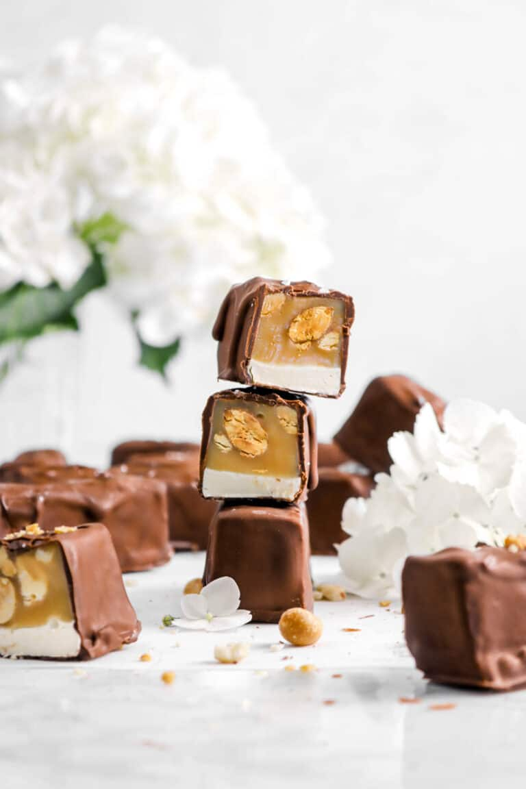 Homemade Snickers Candy Bars