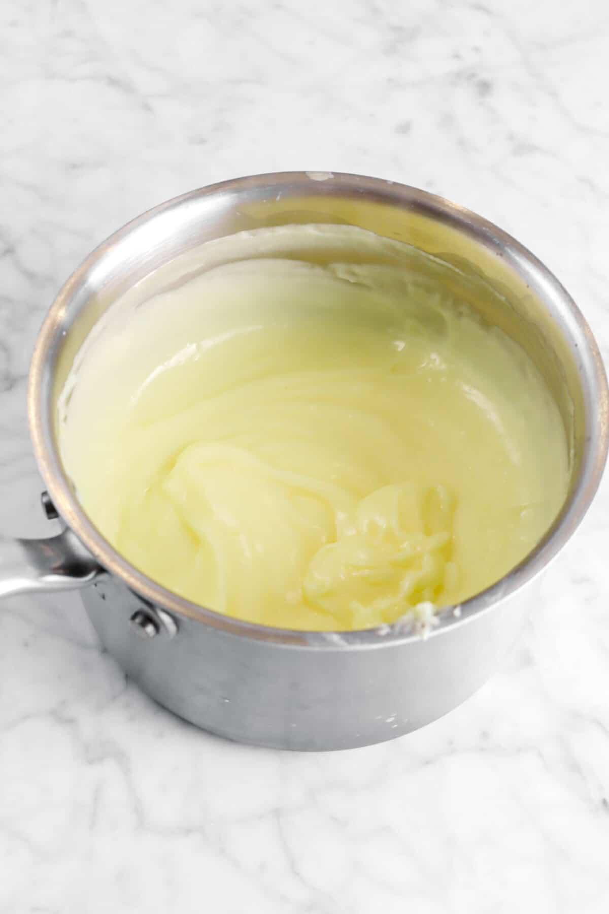 custard in small pot