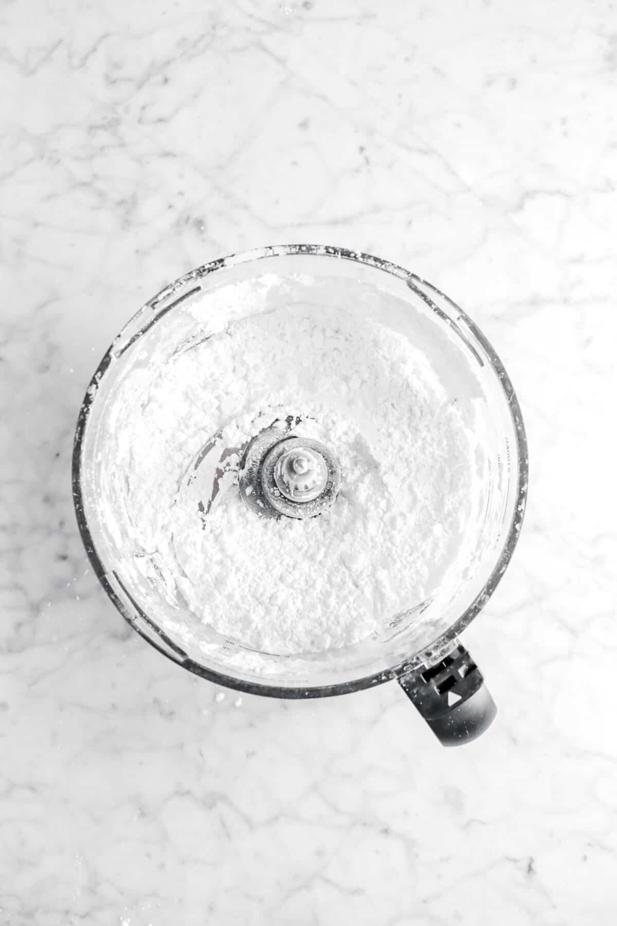 powdered sugar pulsed in food processor