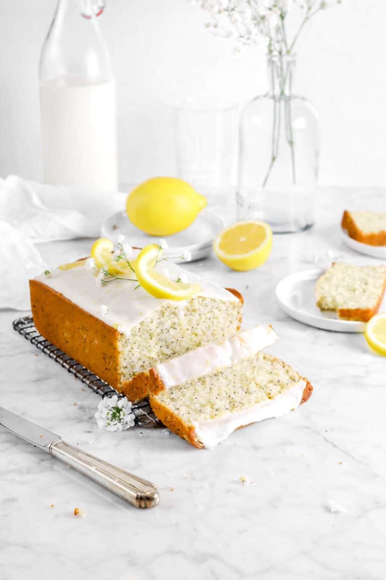 Lemon Poppy Seed Bread with Lemon Glaze