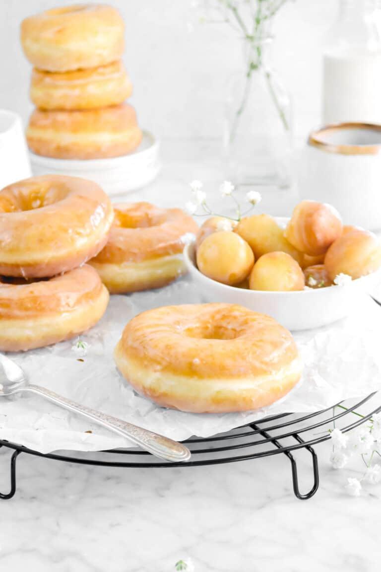 Homemade Glazed Vanilla Doughnuts