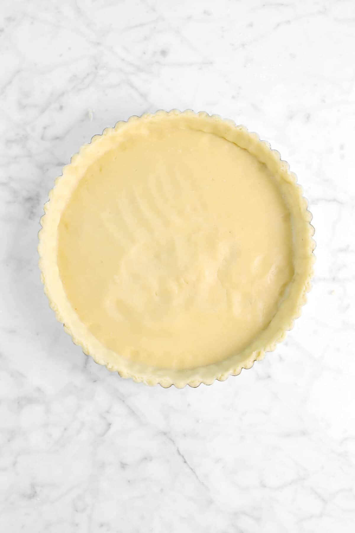 shortcrust in tart pan