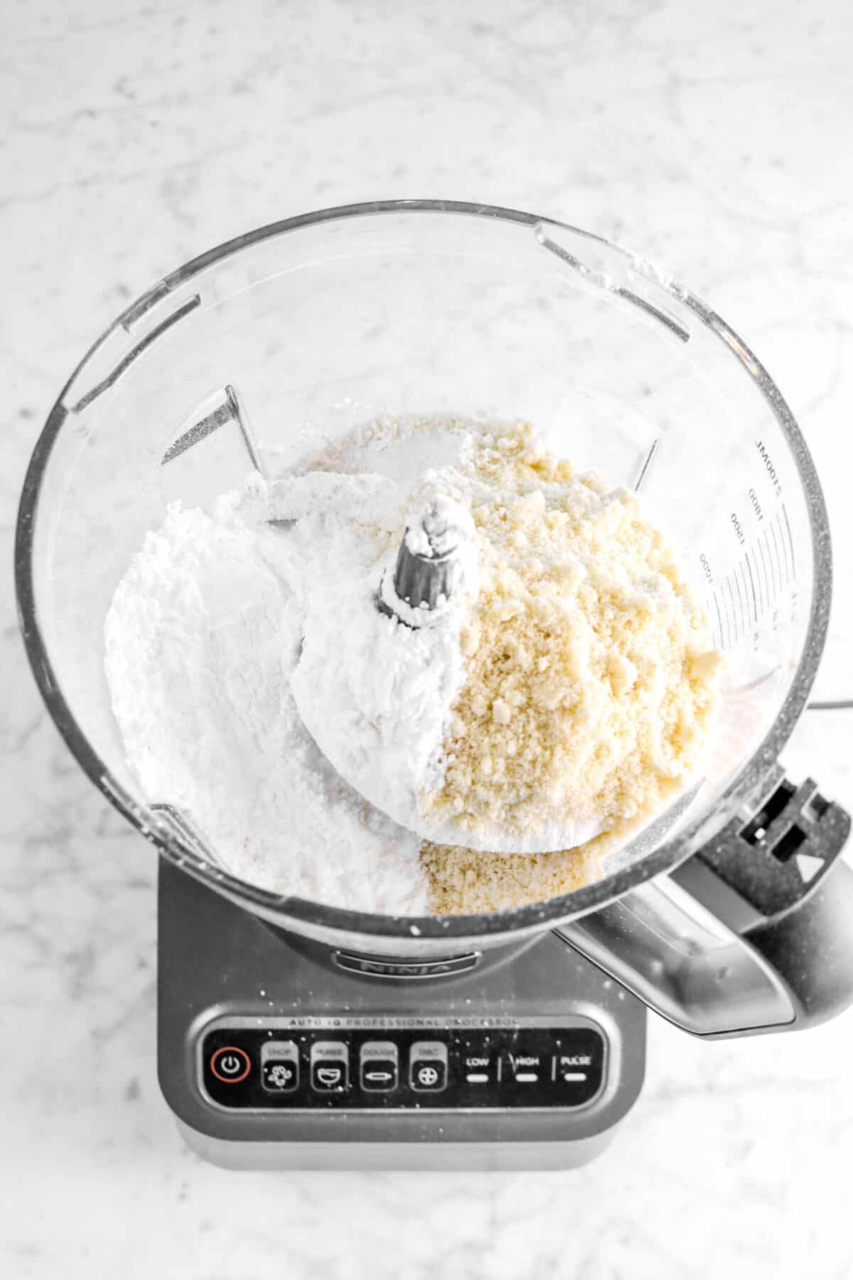 flour and almond flour in food processor