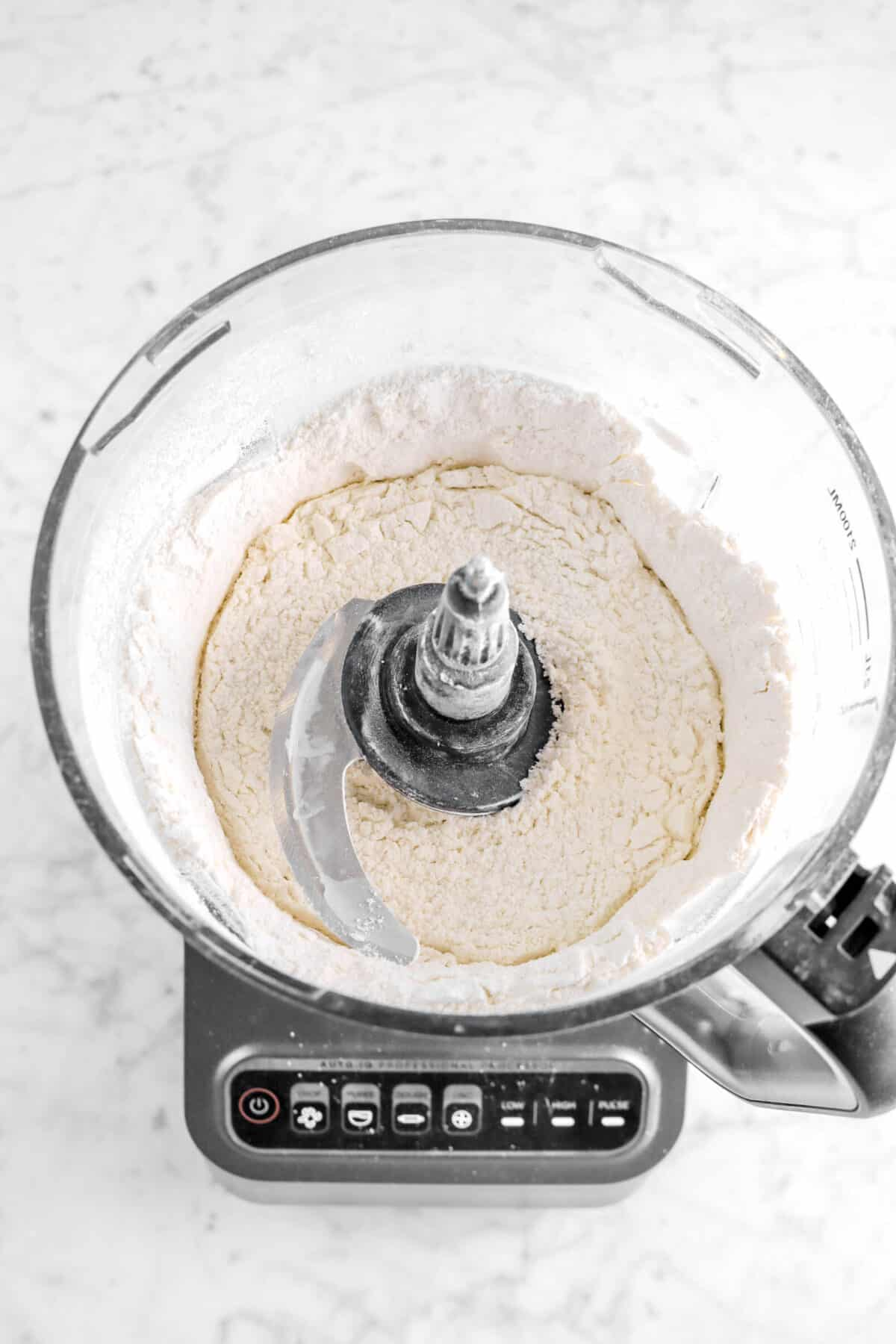 dry ingredients mixed in food processor