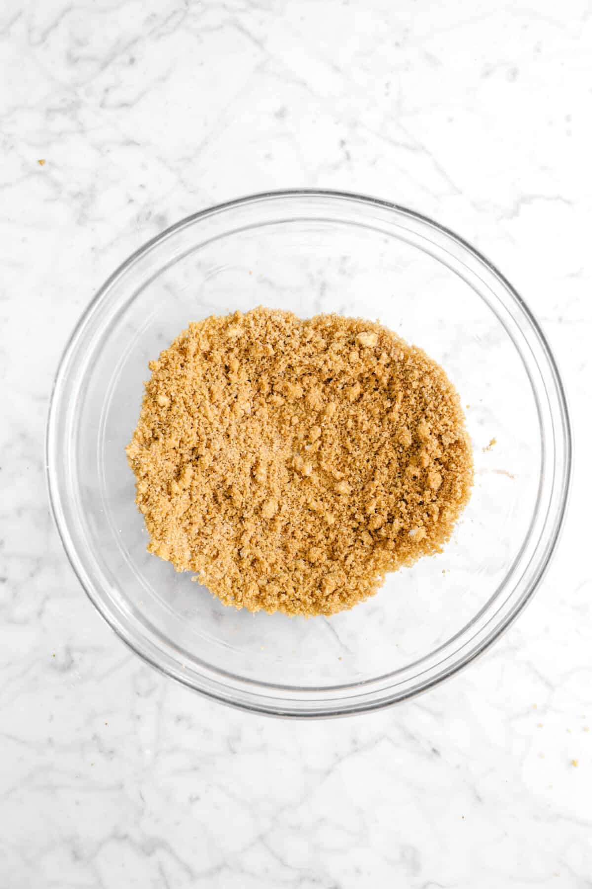 brown sugar mixture in glass bowl