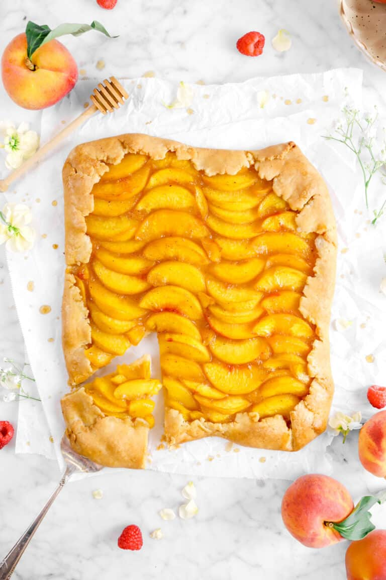 Brown Sugar and Nutmeg Peach Galette