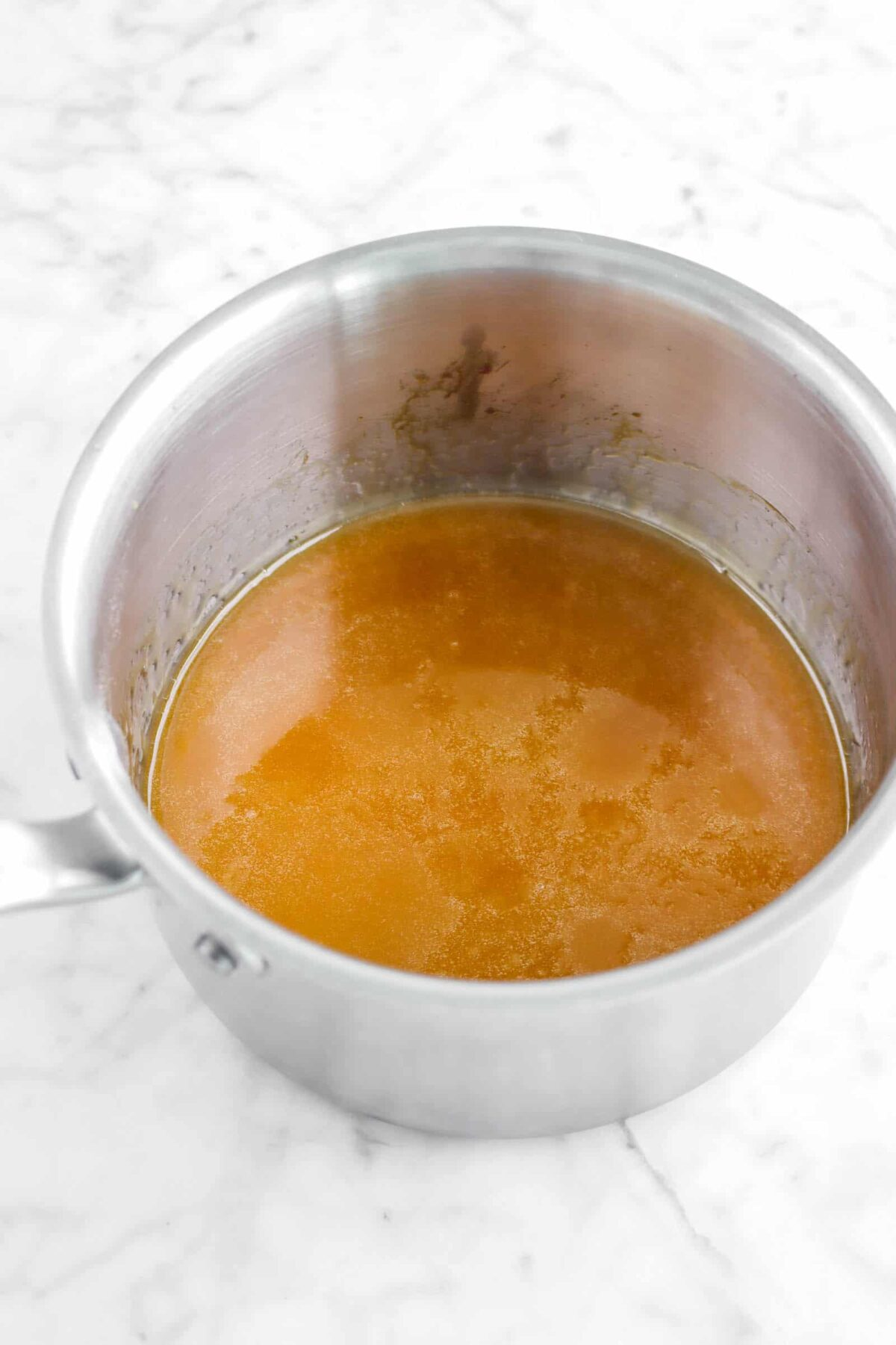 caramel in small pot