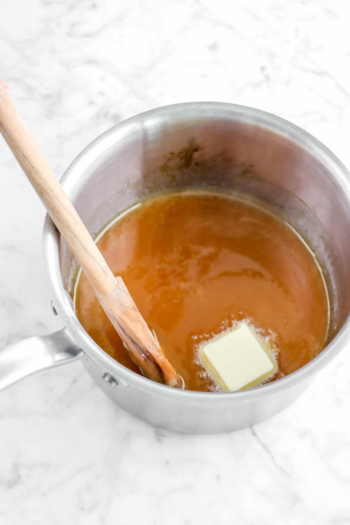 butter added to caramel